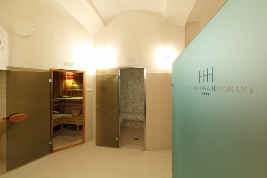 Sauna and steam bath in Hotel Historia